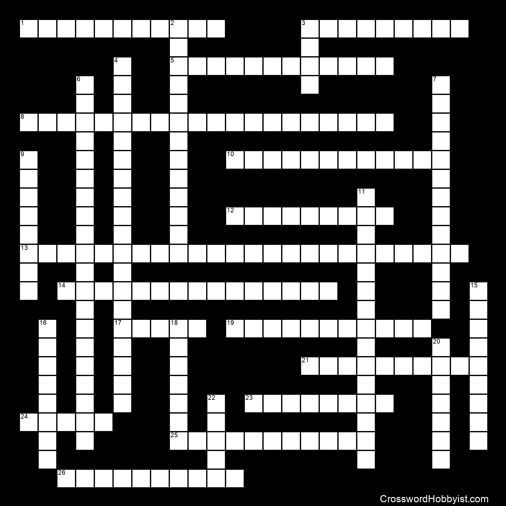 The Cell Crossword Vocabulary Puzzle