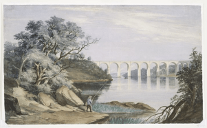 View of High Bridge and the Harlem River by William James Bennett, 1844. New York Public Library.