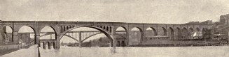Another plan for replacing the piers in the Harlem River. The American Architect, January 21, 1921.