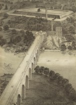High Bridge and High Service Works and Reservoir. D.T. Valentine's Manual, circa 1869. Library of Congress Prints and Photographs Division.