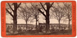 High Bridge from the East. Stereoview from Robert N. Dennis collection, New York Public Library.