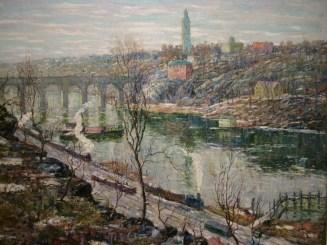 Harlem River at High Bridge by Ernest Lawson, 1911. De Young Museum.