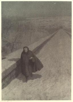 Edgar Allen Poe Walking on the High Bridge by Bernard Jacob Rosenmeyer, circa 1900.