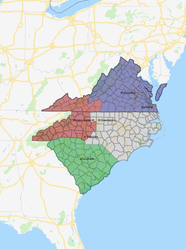 Winston Salem Zip Code Map : winston, salem, Winston, Salem