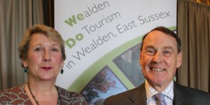 Jane Kilby, Wealden's Tourism Officer, and Cllr Roy Galley