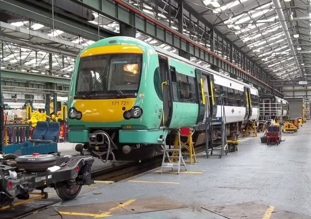 One of the trains at Southern's Selhurst Depot
