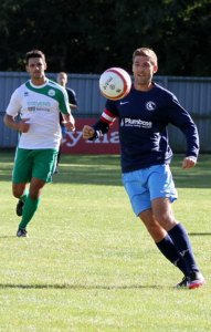Crowborough AFC's Chris Ransome the Club's new sponsor