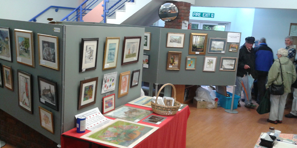 The display of art work in Grove House
