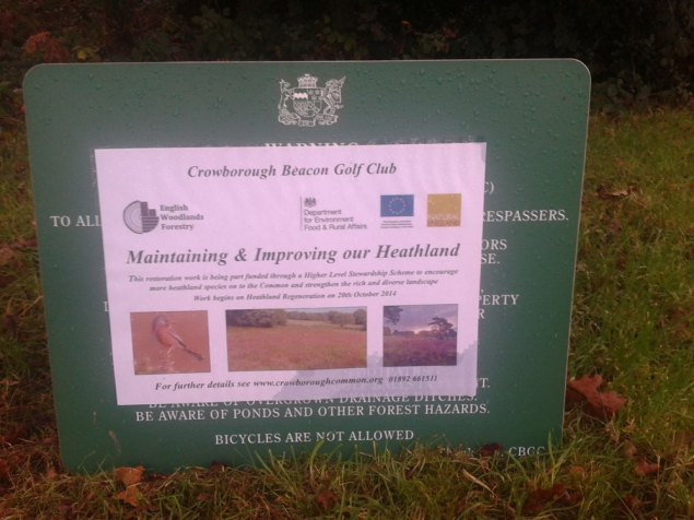 Sign explaining the restoration work being undertaken