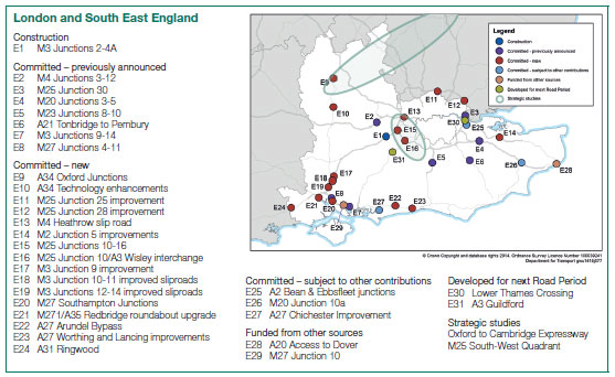 Roads Investment Strategy - overview London and the South East