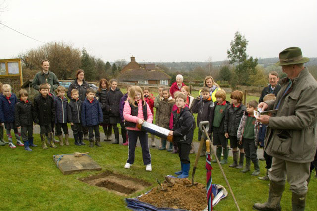 burial time capsure Millenium Green Rotherfield