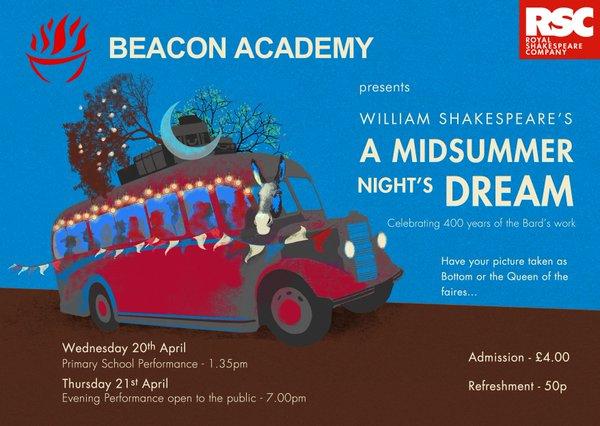 Midsummer Night's Dream 21st April 2016 beacon Academy Crowborough