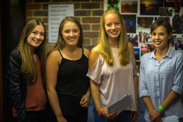 Emily Baldwin, Rhianna Field, Rachel Key and Charlotte Richardson