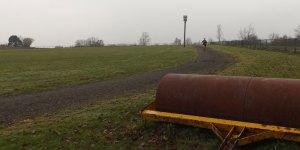 Cinder running track Goldsmiths Recreation Ground in Crowborough