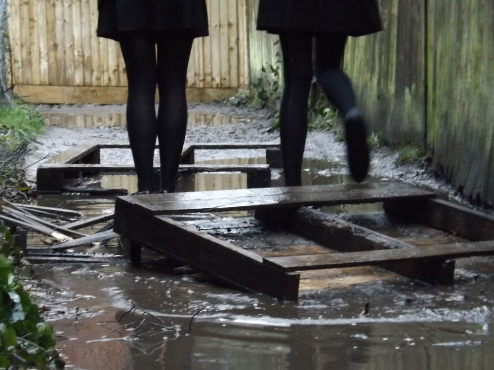 Beacon Academy in Crowborough are supporting campaign to get a 'Muddy Alley' which runs between Oliver Close and Crowborough Hill, an all-weather surface.
