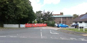 Access to Mead House car park in Crowborough closed off