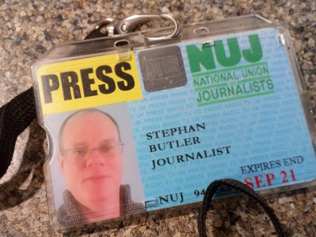 Stephan Butler Crowborough Life NUJ National Union of Journalists Press Card