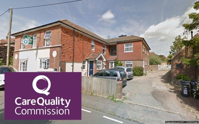 New Inn Uckfield (Google Streetview) CQC logo