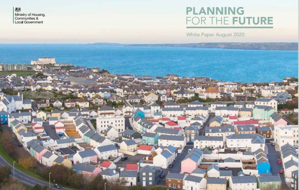 """Cover from Government's consultation """"Planning for the Future"""""""
