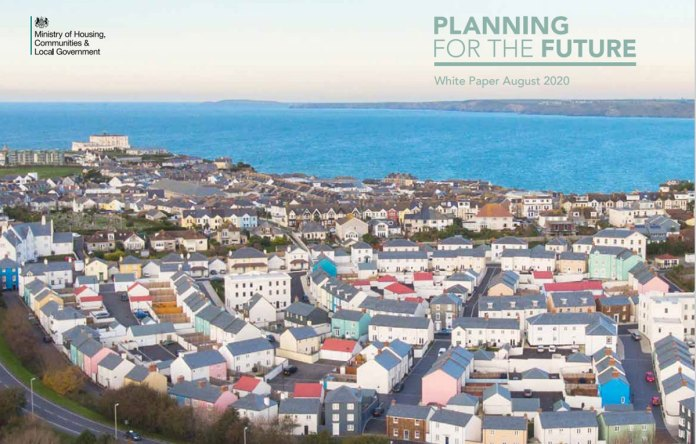 "Cover from Government's consultation ""Planning for the Future"""