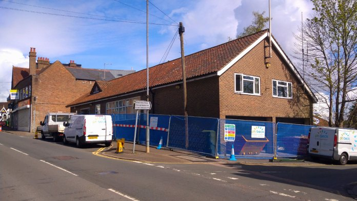 Building work Crowborough Town Hall get it ready for Police Station.