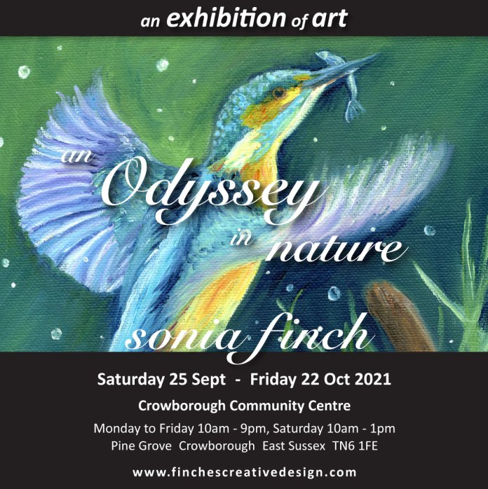 'An Odyssey in Nature' Art Exhibition by Sonia Finch at Crowborough Community Centre