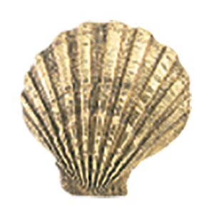 Crowder Designs Decorative Drapery Bracket Collection | Scallop Shell