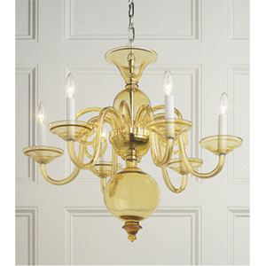 Crowder Designs Amber Chandelier Collection | 6 Arm