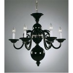 Crowder Designs Black Chandelier Collection | 6 Arm