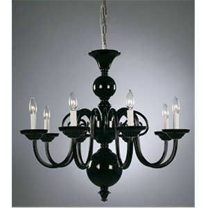 Crowder Designs Black Chandelier Collection | 8 Arm