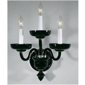Crowder Designs Black Sconce Collection | 3 Arm