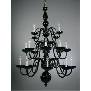 Crowder Designs Black Chandelier Collection | 20 Arm