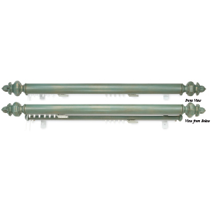 "Crowder Designs Double Track Traversing Rod | Optional 1 3/8"" Facia, Center Draw"