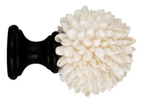 Crowder Designs Natural Elements Finial Collection   White Angel Wing