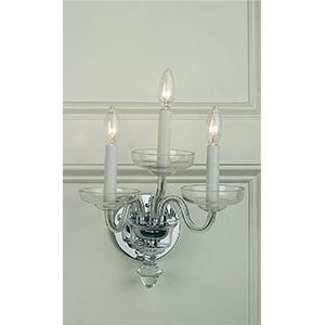 Crowder Designs Clear Sconce Collection | 3 Arm