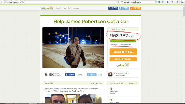 A crowdfunding campaign catches fire.