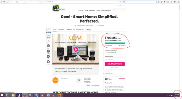 oomi crowdfunding success