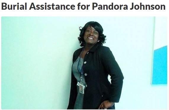 Burial Assistance for Pandora Johnson GoFundMe Boost ZumaFunder.com Help