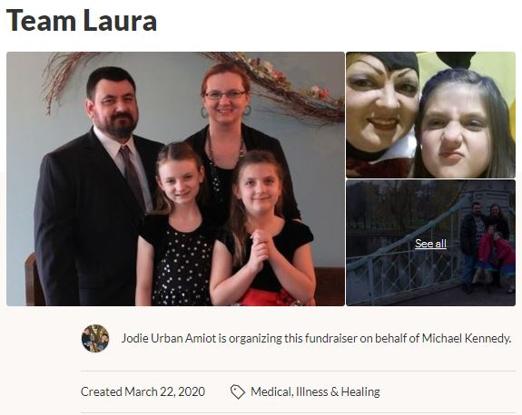 Team Laura by Jodie Urban GoFundMe Campaign