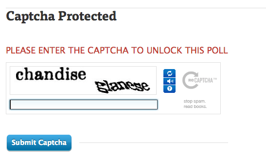 public enter captcha crowdsignal