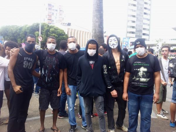 Demonstranten am brasilianischen Unabhängigkeitstag. Gestern in Salvador.