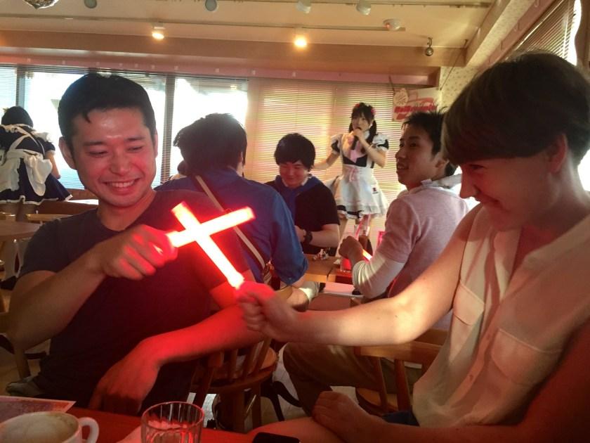 Leuchtschwertkampf