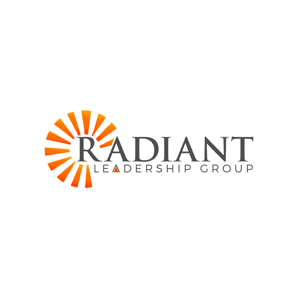 Logo for the launch of Radiant Leadership Group, a