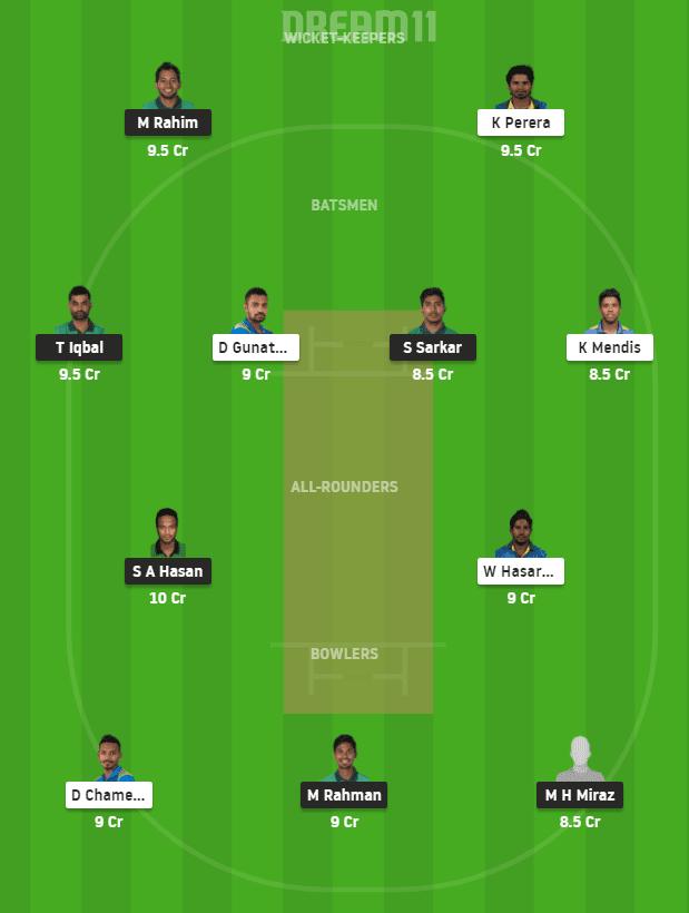 SL vs BAN Dream11 Team Predictions
