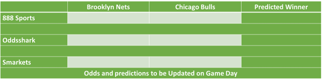 Brooklyn Nets vs Chicago Bulls NBA Odds and Predictions