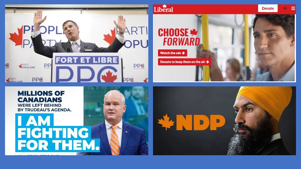 2021 Canada Election Ads (Videos): NDP with the highest number of ads so far