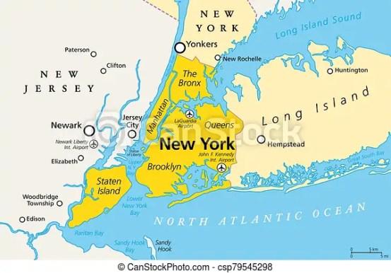 new york city political map manhattan drawing csp79545298
