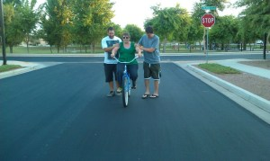 sons teach me to ride bike!