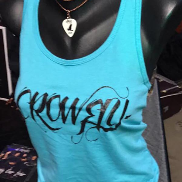 Crowfly Women's Teal Tank Top.
