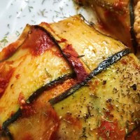 Zucchini Lasagna Pockets with Tofu Ricotta